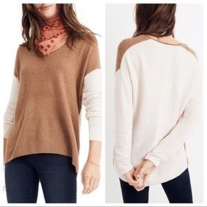 Madewell Merino Alpaca Kimball Color Block Sweater